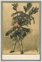 Box Tree Fairy by Cicely Mary Barker. Winter Flower Fairies 1985 old print